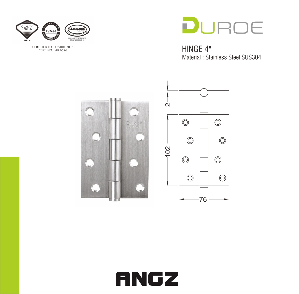 Stainless Steel Hinge 4