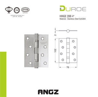 Stainless Steel 2BB Hinge 4
