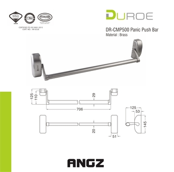 DR-CMP500 Panic Push Bar