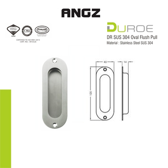 DR-SUS304 Oval Flush Pull